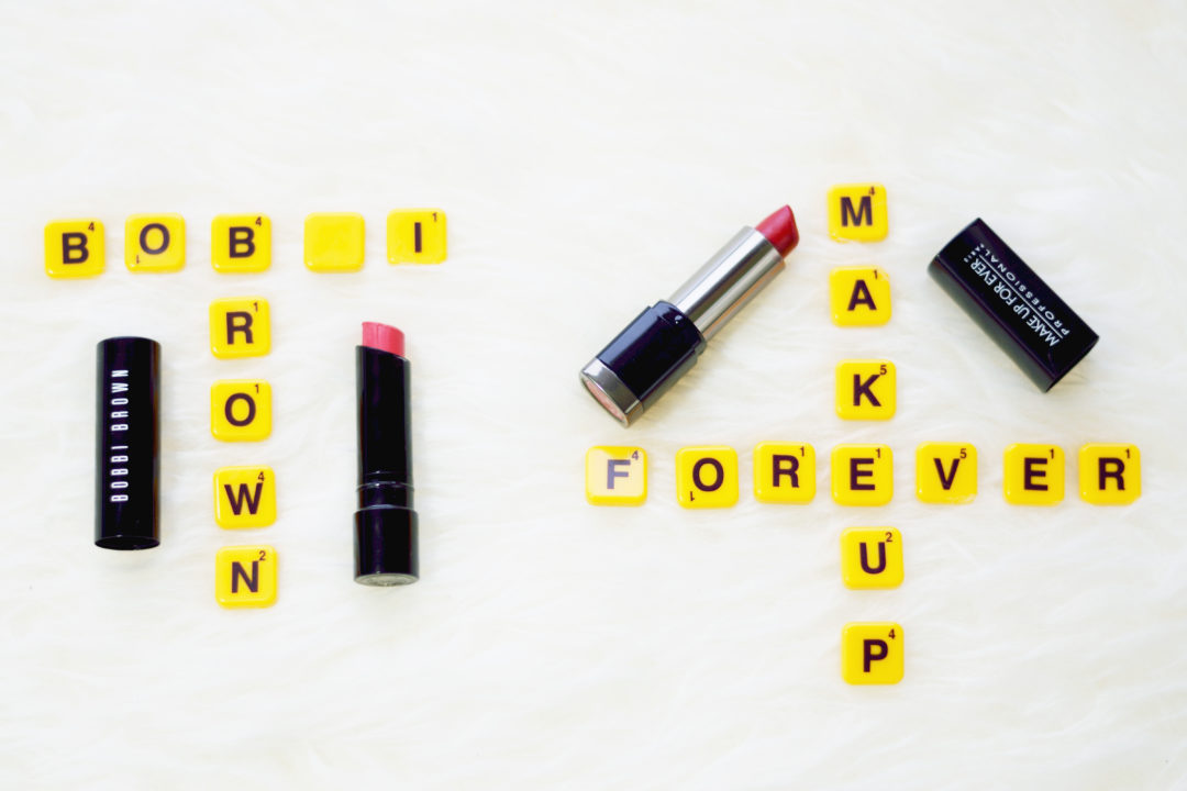 Bobby Brown Vs Make Up For Ever Lipstick review