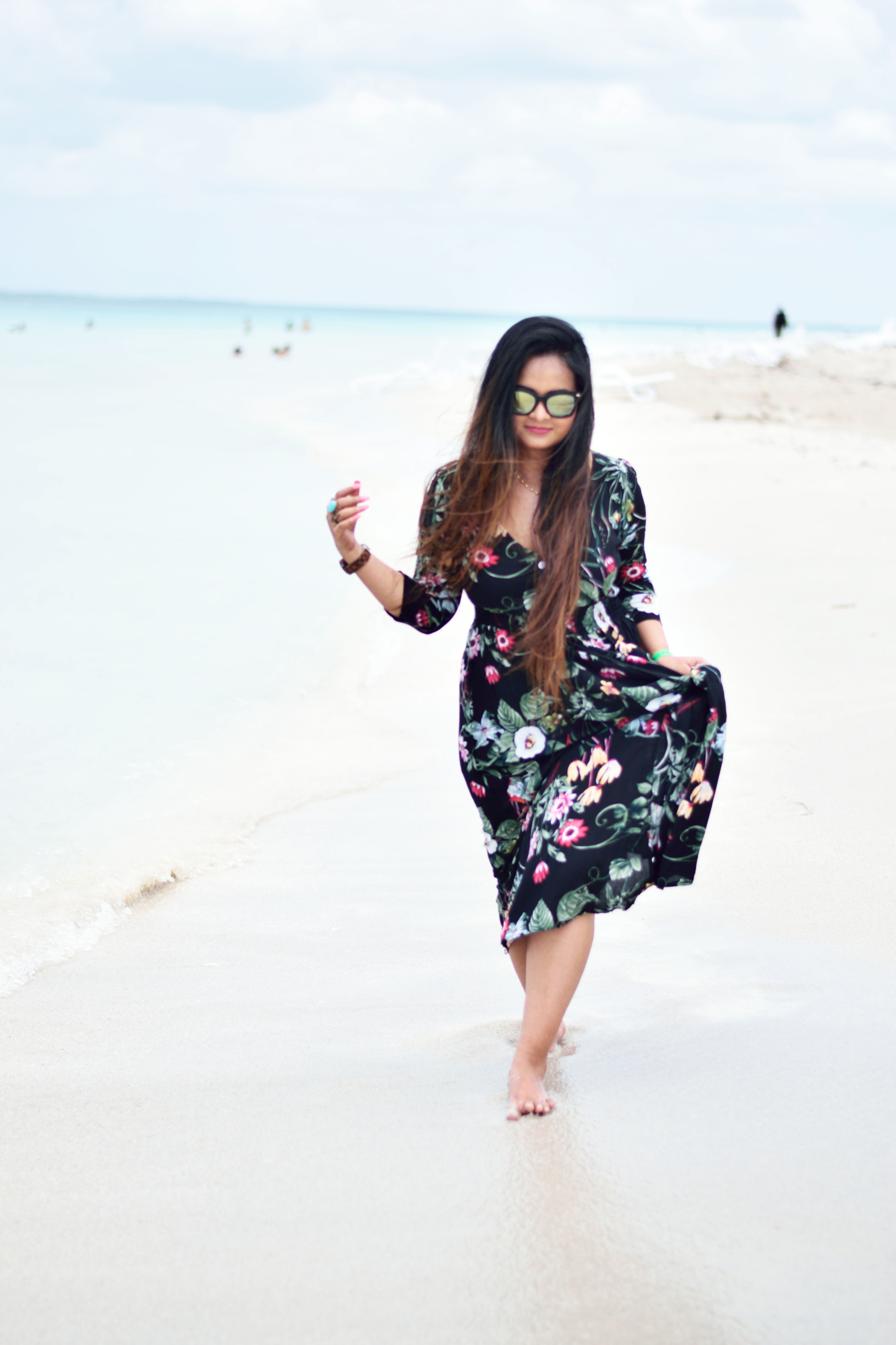Black Floral Boho Dress from JustFashionNow - The Perfect Boho Look
